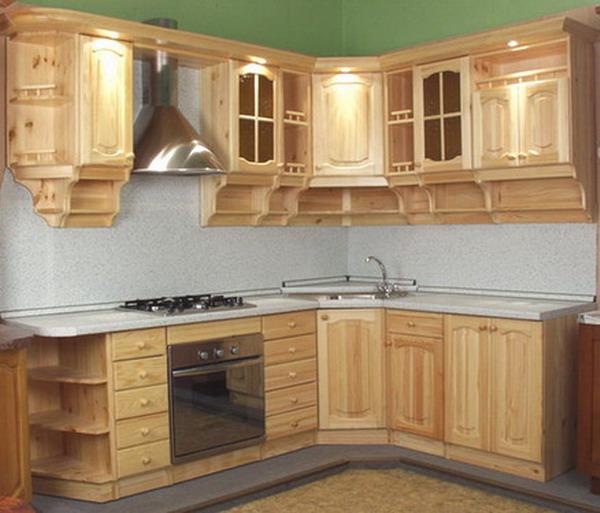 Кухонные гарнитуры из сосны